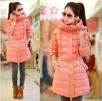 Tops winter down coat wadded jacket women's long design cotton-padded jacket winter down jacket  Down & Parkas