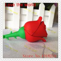 Free shipping U Disk pen drive red rose 4gb/8gb/16gb/32gb usb flash drive flash memory stick pendrive