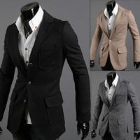 Men's New fashion Unique design slim suit coat men's suit jacket  Size M/L/XL/XXL