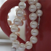 Free Shipping Nature Pearl Necklace Strands Pefect Round Freshwater Pearl Necklace Gift Wedding Pearl Jewelry
