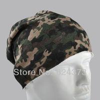 Woodland Camoufalge Camo Beanie Skull Cap Hat Cotton No-overlock