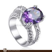 New! Vintage in Fashion Jewelry Amethyst Quartz 925 Sterling Silver women's Ring R1158