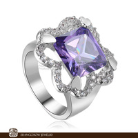New! Vintage in Fashion Jewelry Amethyst Quartz 925 Sterling Silver women's Ring R1151
