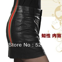 2013 autumn slim all-match basic skirt bust skirt PU skirt