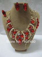 Free shipping by DHL African costume jewlery gold jewelry sets necklace/baracelet/earing/ring no 1517