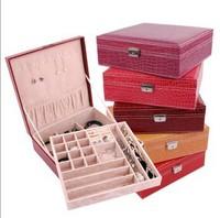 Hot item, The latest modern style simple color jewelry box furniture jewelery box necklaces pendants velvet box wholesale