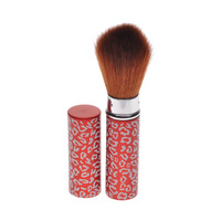 New Makeup Retractable Red Leopard Blush Powder Brush Adjustable Cosmetic E24