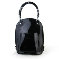 free shipping 2013 star ol backpack style bag handbag patent leather black japanned leather female bags
