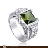 New! Vintage in Fashion Jewelry Peridot Quartz 925 Sterling Silver Ring R1185