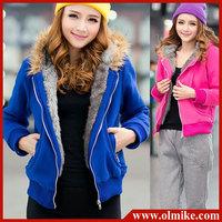 free shipping lady women warm winter coat hoody Fur Collar hooded sweater women clothing S M L XL XXL