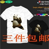 Hot Sale New Summer 2014 Fashion Kung fu panda Lovers Short-sleeve T-shirts plus size Cotton Carton Tops Shirts Lovely Tees