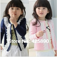 NEW Spring and autumn breasted embroidery girls coat child long-sleeve  girls clothing child outerwear  children clothing
