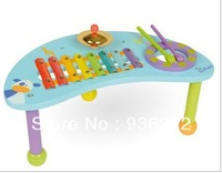 Free Shipping 5pcs/lot Baby Wooden Musical desk Educational Children Wooden Toys Children Early Learning Toys