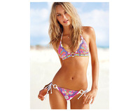 Hot 2014 Fashion Sexy Women Beach Bikinis Victoria Slimming Bathing Suits Swimsuit Free Shipping Z257