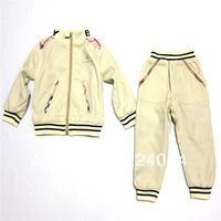 FREE SHIPPING! hot 2013 New arrive children clothing set kids sprots set coat+pants 2 pcs autumn kid's garment 1-5yrs