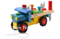 Free Shipping Baby Wooden toys janad nature truck Educational Children Wooden Toys Children Early Learning Toys Christmas gift