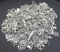 100g (50~80pcs) Random Mix Styles Antique Silver, Antique Bronze Zinc Alloy Charms Pendant