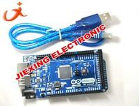 Free Shipping 2pcs=1pcs ADK Mega 2560 2012 ARM Version Main Control Board + 1pcs USB For ARDUINO