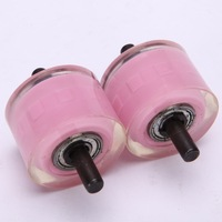 Automatic wear-resistant transparent PU rubber material double layer heelys wheel