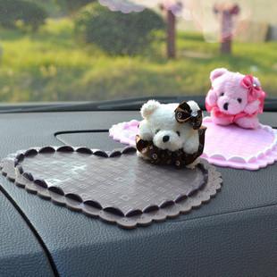 Anti Slip-resistant mobile phone pad bear car non slip mat mats Large carphones silica gel pad general Auto accessories(China (Mainland))