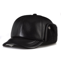 2014 Rushed Baseball Caps Hats Gorras Sheepskin Baseball Cap Quinquagenarian Male Genuine Leather Hat Autumn And Winter Cadet