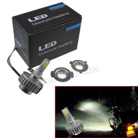 New Arrive Motorcycle Bike 30W 6000K Slim LED HID Light Hi/Lo Bi-xenon Conversion Beam Kit Free Shipping
