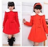 Children's clothes girls qiu dong han edition big child trench coat cloth coat children winter coat