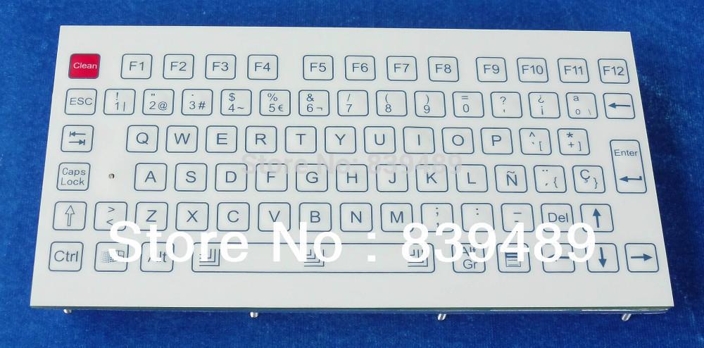 Industrial key board,107 keys IP65 rated, industrial membrane keyboard, rugged keyboard, OEM/ODM --(Don't accept sample orders)(China (Mainland))