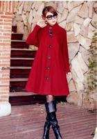Free shipping, 2014 New Arrival Women Winter Wool Blended Long Warm Skirt Style Jackets , Lady Outwears Snow Coats , J33