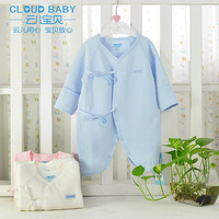 Baby children's clothing Indian air cotton fiber baby bodysuit thickening paragraph butterfly lacing thermal clothing