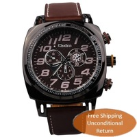 Free shipping men watch fashion men sport watch men quartz watch leather strap watches