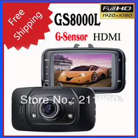 100% Novatek GS8000L 2.7 inch 1080P HD Car DVR with140 Degrees Wide-Angle, Infrared Night Vision