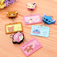 Free Shipping Kawaii Cartoon Animal Silicone Luggage Tag,Travel Card Holder, Bus card sets,4 models available