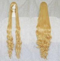 Victory cosplay wig blonde wig high temperature wire curls 150cm