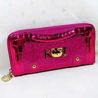2013 New Beautiful Cute  Free Shipping  Hello kitty    Pu Zipper  Women Girl Lady Wallet  Purse Size(20.0cm*10.0cm)