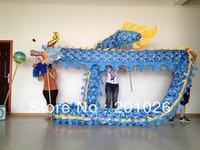 18m Length Size 3 silk print fabric  BLUE Chinese DRAGON DANCE ORIGINAL Dragon Chinese Folk Festival Celebration Costume