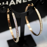 Fashion earring rave personality fashion large circle hoop earrings
