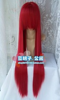New Cosplay Wigs COS Wig Long Straight Hair Wig Red Wigs +Free Hairnet