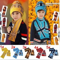 NEW Children's Knit Hat rice word ( Scarf + hat ) children's hat Baby Kids Warmer Children Kids Girls Boys Cap