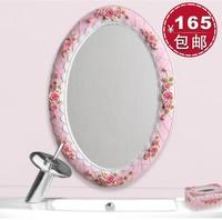 Yuanjing rose series rose bathroom mirror wall makeup mirror embossed laciness