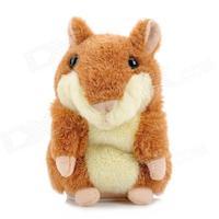 Yellow or Gray Electronic Pets Cute Speak Talking Sound Record Hamster Talking Plush Toy Animal Free shipping