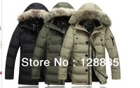 Men's 2013 new Korean version of the long down jacket free shipping