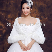2013 Hot Sale Fashion ivory Synthetic Leather  Ball Wedding Bridal Wrap Shawl