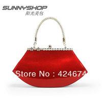 Bridesmaid bag 2013 women's handbag japanned leather handbag shoulder bag red married bridal bags