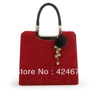 2013 square grid bag box package bridal bag handbag red bags