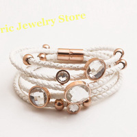 Free Shipping Fashion Charms Bracelet Crystal Bangles Best Gift High Quality Gift Package (Dust Bag ,Gift Box) #B15