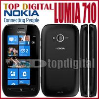 3pcs/lot Original Nokia Lumia 710 Windows Phone 8GB Storage WIFI GPS Cell phones One year Warranty
