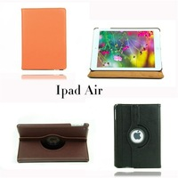 DHL free shiping 200 pcs/lot SHENZHEN factory  high quality 360 Rotating PU Leather Case Cover for ipad air Wholesale