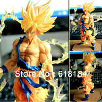 Free shipment new 2013 hot toys pvc action figure Japanese anime Dragon Ball Z Super Saiyan Son Gokou figurine new year gifts