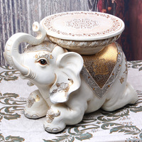 free shipping Large lucky elephant decoration shoes stool resin craft home decoration fish decoration